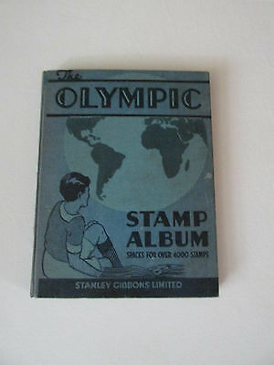 OLYMPIC STAMPS ALBUM WITH WORLD STAMPS 1940s