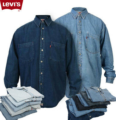 Men Levi Strauss Vintage Levis Denim Shirts Red Tab Long Sleeve  Xs S M L Xl Xxl