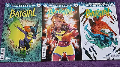 Batgirl Rebirth Issues 1, 2, 3 Variant Covers First Print