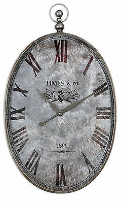 Argento Antique Wall Clock by Uttermost #06642
