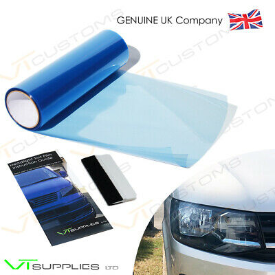 30 x 100cm Light Blue Headlight Tinting Film Tint Fog Vinyl Smoke FREE SQUEEGEE