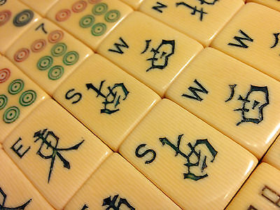 French-Ivory Tiles for Replacement/Joker/Craft -1930s - MahJong Jongg_#3