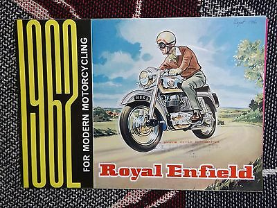 ROYAL ENFIELD RANGE SALES BROCHURE & PRICE - 1962 - CONSTELLATION CRUSADER etc