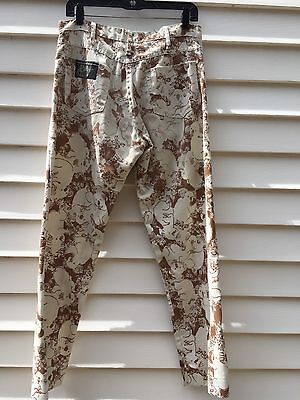 Vintage Mens Lilly Pulitzer Jeans Brown Koalas Denim waist 30""