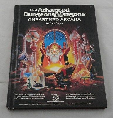 Advanced Dungeons and Dragons Unearthed Arcana Player's Handbook 2017 AD&D 1985