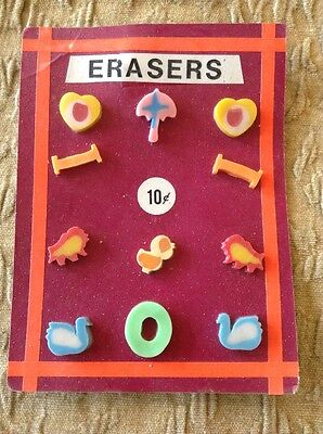 Vintage Vending Display Card Hearts Umbrellas Swans Chicks Letters 'I's and 'O'
