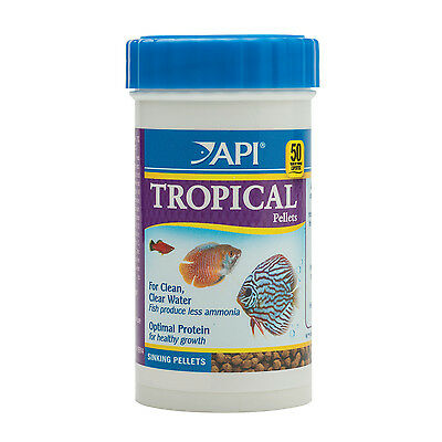 API Tropical Pellets 47g Nutrition Fish Food for Tetras Barbs Discus & More