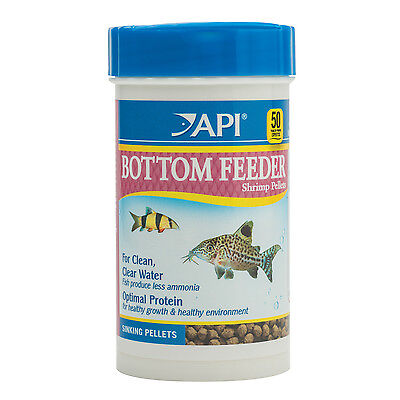 API Bottom Feeder Shrimp Pellets 116g Nutrition Fish Food Sinking Pellets