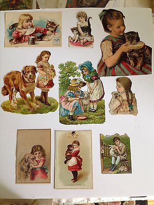 9 Antique Victorian Images Of Children With Their Pets