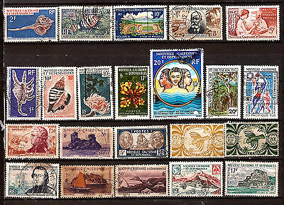 EP145 Nlle CALEDONIE 22T: paysages,coquillages,personnages,emblemes,divers