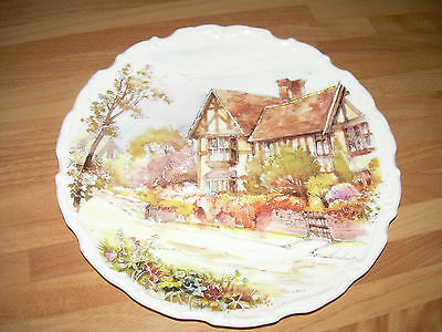 Royal Osborne bone china Plate - VILLAGE SCENE