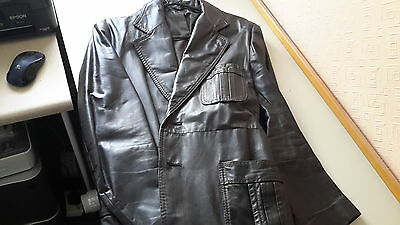 mans vintage leather coat