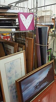 job lot of over 50 pictures and mirrors.. car boot market stall