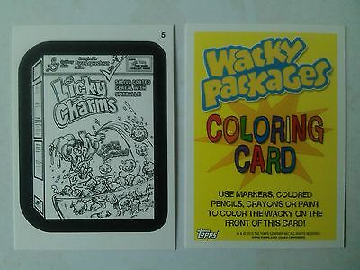 Wacky Packages ANS 11 Coloring Card 5 Licky Charms Topps - 2013
