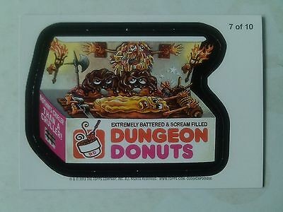 Wacky Packages ANS 11 Magnet Card Number 7 of 10 Dungeon Donuts Topps - 2013