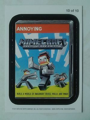 Wacky Packages ANS 11 Magnet Card Number 10 of 10 Mimecraft Topps - 2013