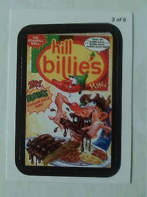 Wacky Packages ANS 11 Rude Food Menu Card 3 of 9 Hill Billie's Topps - 2013
