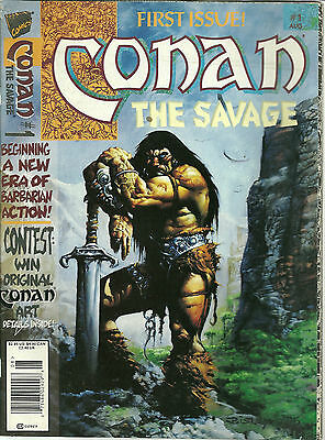Conan The Savage 1 First Issue Marvel Comic Book Magazine Aug 1995