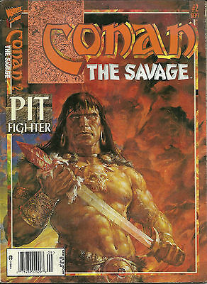 Conan The Savage 2 Pit Fighter Marvel Comic Book Magazine Sept 1995
