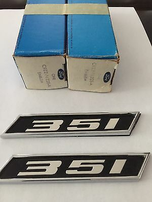 1969 1970 Mustang 351 Fender Emblems NOS IN THE BOX