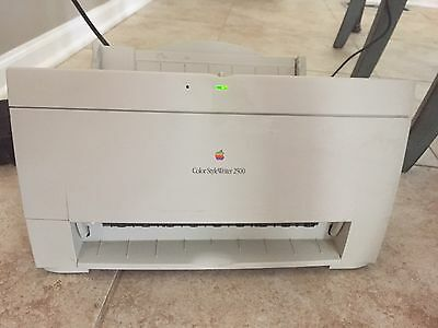 Vintage Apple Stylewriter 2500 printer in box used OEM charger and cable