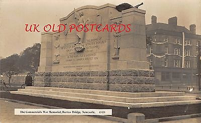 Northumberland,War Memorial Barras Bridge Newcastle upon Tyne Photo Postcard.