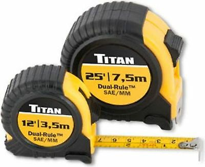 Titan Tools 10903 Combo Dual Rule Tape Measure Set - Multi-Colour (2-Piece)