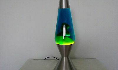 17 Inch Lava Lamp With Silver Base And Roller Switch Plug 15 Years Old