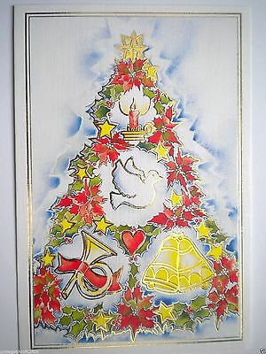 """VINTAGE """"FESTIVITY"""" CHRISTMAS GREETING CARD~Brom Wikstrom - Mouth Painter~#E811"""