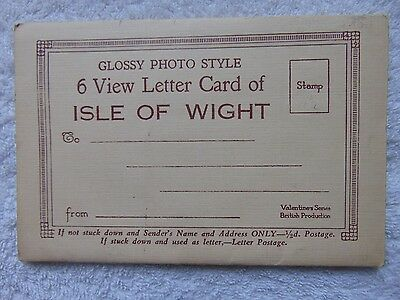 Vintage Souvenir Glossy Photo Style Letter Card Isle Of Wight 6 Photos  Unused