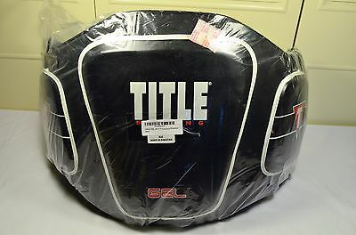 TITLE Boxing Blunt Force Body Protector Black NEW in Opened Baggie