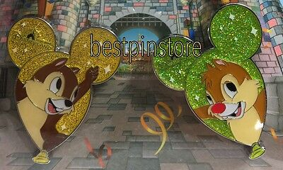 Disney pin - HKDL 2017 Ballon - Chip n Dale 2 Pins Only