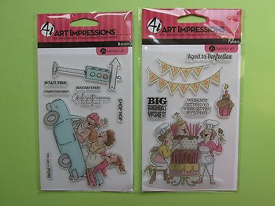 Hampton Art Art Impressions Clear Rubber Stamps Lot NEW RELEASE