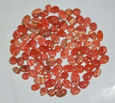 100 Ct Wholesale Lot Natural Pink Rhodochrosite Calibrated Cabochon Hot Gemstone