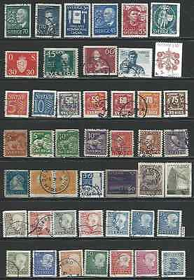#6078 SWEDEN Lot of Used Stamps