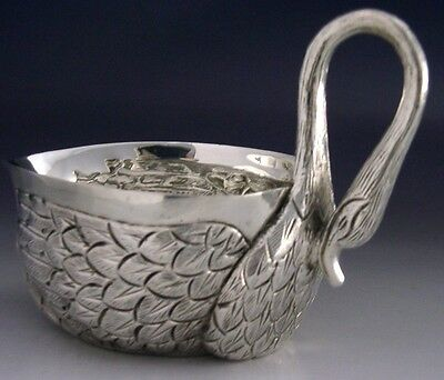SUPERB STERLING SILVER SWAN BOWL MEXICO c1950 HEAVY 146g