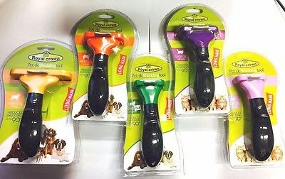 New DeShedding Tool For Cats and Dogs Long Short Hair Coat Grooming Brush uk