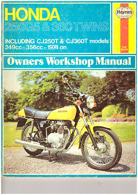 Honda Cb250 Cj250T Cb360 Cj360T Haynes Manual 74 On Clean ,free Post !!!!!!!!!!