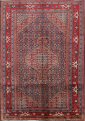 Excellent Condition Geometric 7x10 Ardebil Persian Area Oriental Rug 9'11 x 6'3