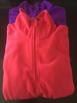 2 Ladies Lightweight Fleece Size 8