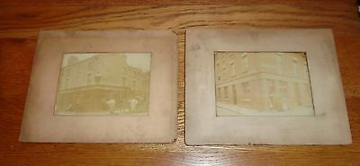2 X Original Antique Sepia Photos of Pubs. Burgess & Brindley Street, Liverpool?