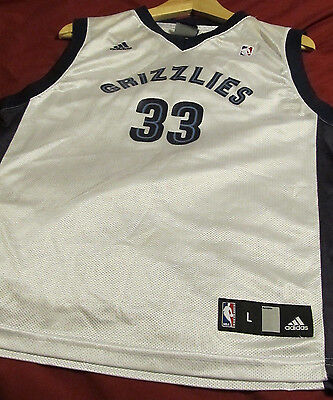 Authentic  MARC GASOL #33 Memphis Grizzlies Adidas. Sz Youth L. FREE SHIPPING!!!