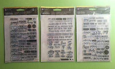 Prima Frank Garcia Planner Accessories Clear Stamps Lot NEW RELEASE