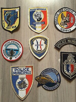 Police Patches  Frankreich  8x