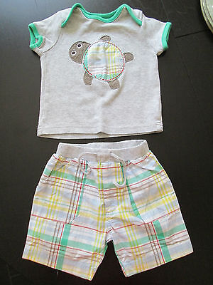 Baby Boys Mothercare Shorts & T Shirt Set Age 6-9 Months