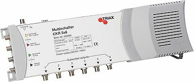 Triax CKR5X12Multiswitch (5Inputs/12Outputs) with Power Supply