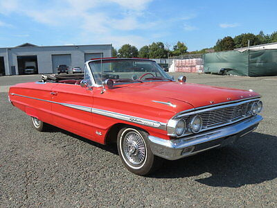 1964 Ford Galaxie  1964 Red Convertible Great Driver Classic 390cid Automatic