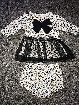 3-6 Months New Baby Girl Leapord Print 2piece Outfit