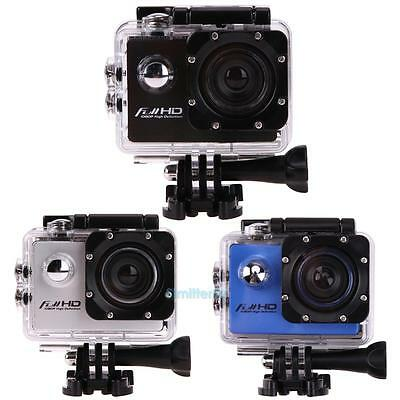 Full HD DV 16MP 1080p Sports Action Camera USB + Full Accessory Bundle Go As Pro