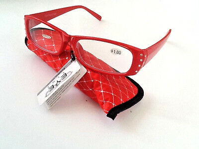 Ladies Designer diamond Reading Glasses with Free matching soft case